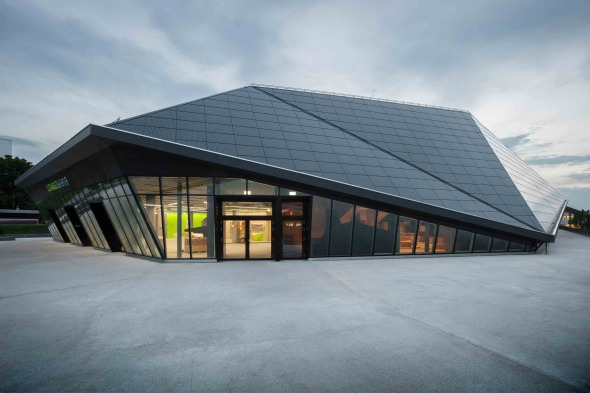 Umwelt Arena Aussenperspektive © René Schmidt Architekten AG