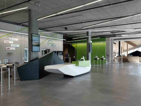 Umwelt Arena Foyer © René Schmidt Architekten AG