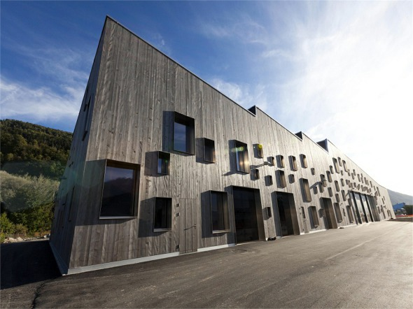 Façade Nord-Est © Atelier d'architecture Pascal Varone