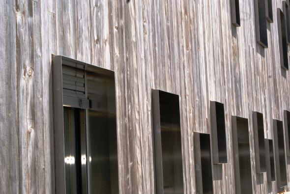 Détail façade © Atelier d'architecture Pascal Varone