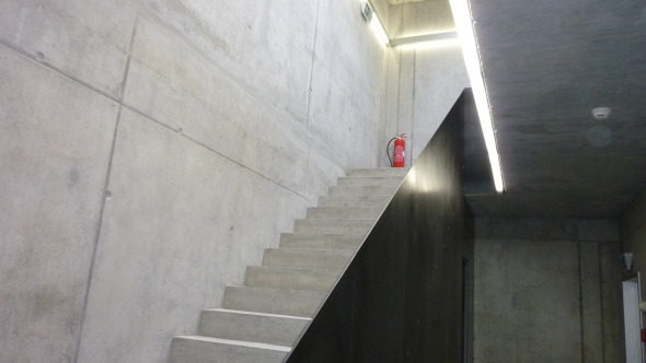 Escalier d'accès à l'étage © Atelier d'architecture Pascal Varone