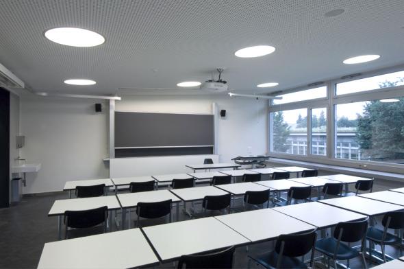 Salle de classe © Mark Röthlisberger, Hochbauamt Kt. Zürich