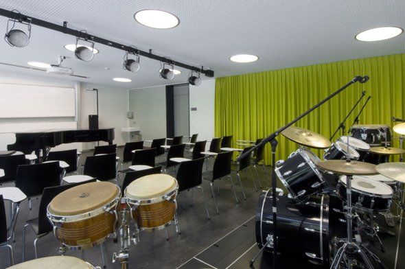 Musikzimmer © Mark Röthlisberger, Hochbauamt Kt. Zürich