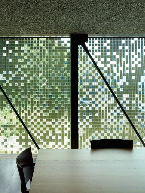 Stahlnetz als Sichtschutz, Künstler: Daniel Schlaepfer © Thomas Jantscher