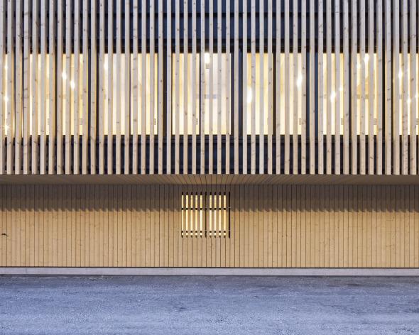 Ansicht Detail Fassade © Roman Keller