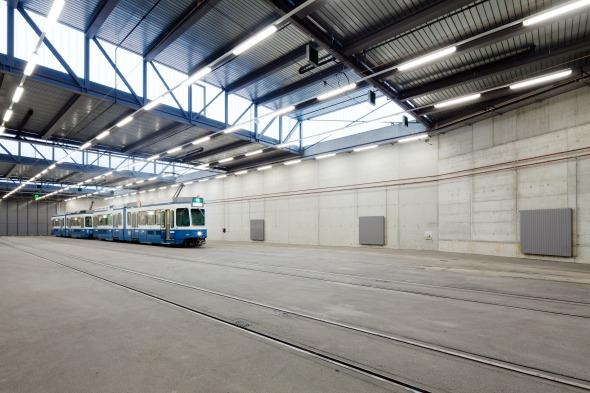 Die Innere Struktur wurde vom bestehenden, denkmalgeschützten Depot übernommen © © beat bühler