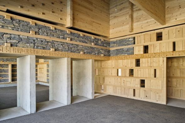 Besucherraum Blick ins Gebäudeinnere © Ralph Hut