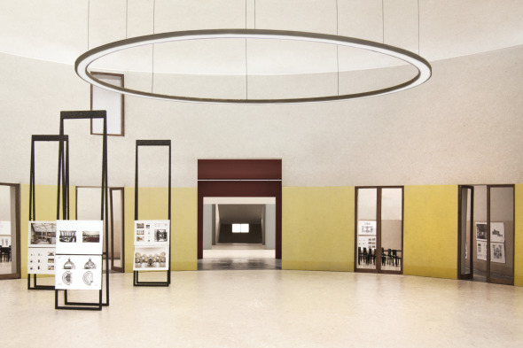 Modellbild Ausstellungsraum Enfilade, 1OG, A1 © Stefan Roos