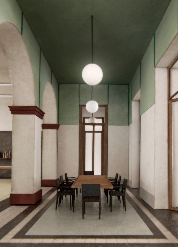 Modellbild Sitzungszimmer Professur, 1OG, A1 © Stefan Roos
