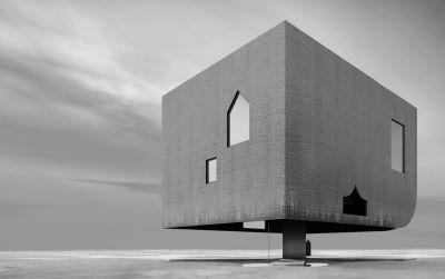 Amor vacui - Haus im Wattenmeer