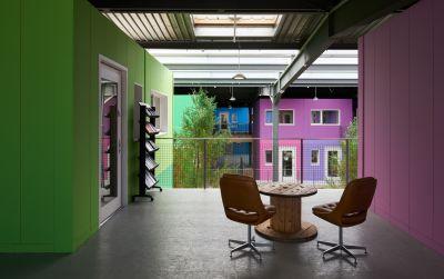 Réhabilitation d'une halle industrielle en bureaux zéro carbone