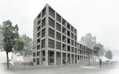 Bâtiment résidentiel avec rez commercial - Bellinzona