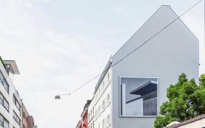 Drahtzug – Dach auf Zwei Balken in Basel