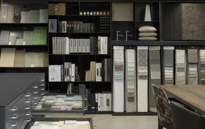 Materialbibliothek für den Innenausbau