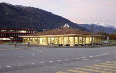 Bäckerei Produktionsgebäude mit Cafè