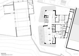 Erdgeschoss wellnessHostel4000 & Aqua Allalin  von SSA Architekten AG BSA SIA