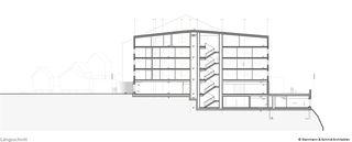 Längsschnitt wellnessHostel4000 & Aqua Allalin  von SSA Architekten AG BSA SIA