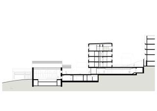 Querschnitt wellnessHostel4000 & Aqua Allalin  von SSA Architekten AG BSA SIA