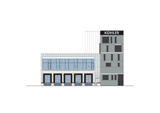 Ansicht Südfassade Neubau Fitting-Lager Giessen 13 de HZDS AG