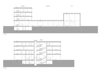 Gebäudeschnitt Neubau Büro- und Produktionsgebäude Hauptsitz Sotax AG von Itten+Brechbühl AG