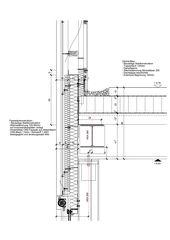 Detail Attika Ost Neubau Fitting-Lager Giessen 13 de HZDS AG