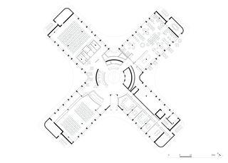 Erdgeschoss Dorint Airport Hotel von burkhalter sumi architekten