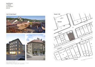 Pläne Hotel Orchidee Burgdorf von Architekten und Planer<br/>