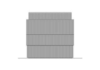 Façade est Züri WC am Stadthausquai de Michael Meier und Marius Hug Architekten AG
