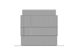 Façade ouest Züri WC am Stadthausquai de Michael Meier und Marius Hug Architekten AG