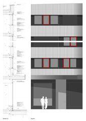 Fassadendetail Dorint Airport Hotel von burkhalter sumi architekten