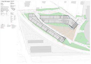 Anlage aussen 1:200 Centre d'enseignement post-obligatoire de Nyon von Aeby Perneger & Associés SA