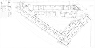 1. Obergeschoss 1:100 Centre d'enseignement post-obligatoire de Nyon von Aeby Perneger & Associés SA