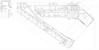 Erdgeschoss 1:100 Centre d'enseignement post-obligatoire de Nyon von Aeby Perneger & Associés SA
