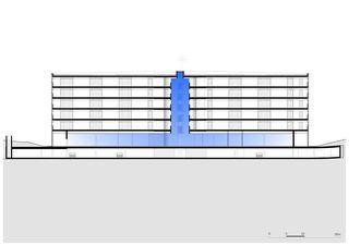 Längsschnitt Dorint Airport Hotel von burkhalter sumi architekten