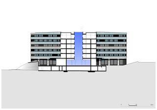 Querschnitt Dorint Airport Hotel von burkhalter sumi architekten
