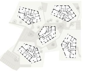 Rez-de-chaussée Wohnüberbauung Widenbüel de ARGE architektick_ScherrerValentin_MMT
