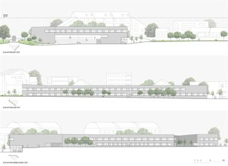 Aufrisse Centre d'enseignement post-obligatoire de Nyon von Aeby Perneger & Associés SA