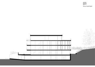 Längsschnitt Mehrfamilienhaus von Felix Partner Architektur AG