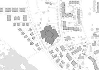 Situation 1:1000 Schulhaus Zinzikon von Adrian Streich Architekten AG