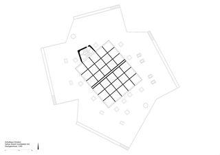 Dachgeschoss 1:300 Schulhaus Zinzikon von Adrian Streich Architekten AG