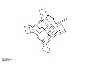 Untergeschoss 1:300 Schulhaus Zinzikon von Adrian Streich Architekten AG