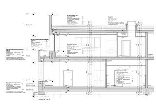 Konstruktion 1:50 Schulhaus Zinzikon von Adrian Streich Architekten AG