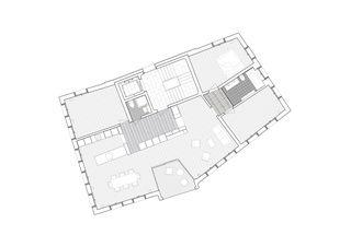 Grundriss OG Wohn- und Geschäftshaus Tschanz von SEILERLINHART Architekten SIA BSA