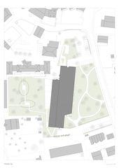 Situation 1:500 Sanierung und Erweiterung Alters- und Pflegeheim Ilanz von ARGE Aschwanden Schürer Architekten AG/Curdin Michael Architekt GmbH