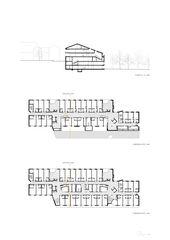 Grundrisse 1:400 Sanierung und Erweiterung Alters- und Pflegeheim Ilanz von ARGE Aschwanden Schürer Architekten AG/Curdin Michael Architekt GmbH