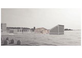 Aussenvisualisierung Meersicht Auditorium di Trieste von