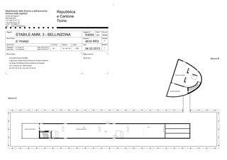 6. Obergeschoss Stabile Amministrativo 3 von Comunità di lavoro Sabina Snozzi Groisman, Gustavo Groisman e Luigi Snozzi