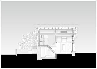 Coupe lonitudinale_nord_50 Cà Vegia von Atelier Ivan Beer