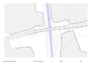 PLAN Pont Noir sur le Grand Canal von Tempesta Tramparulo Architectes Sàrl