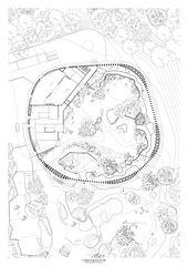 Plan de rez-de-chaussée Elefantenpark Zoo Zürich de Markus Schietsch Architekten